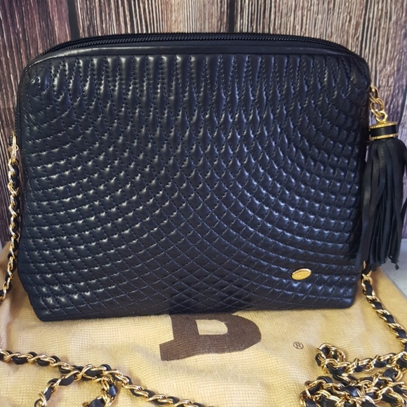 Vintage Bally quilted tassel purse